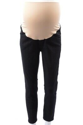 8493b7fab9fda Ann Taylor Loft Maternity black 10 M skinny leg stretch denim jean pant NEW  $80