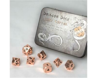 Blackfire Dice - Metal Dice Set - Copper (7 Dice)