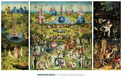 The Garden of Earthly Delights 1490-1510 Hieronymus Bosch Art Print Poster 40x26