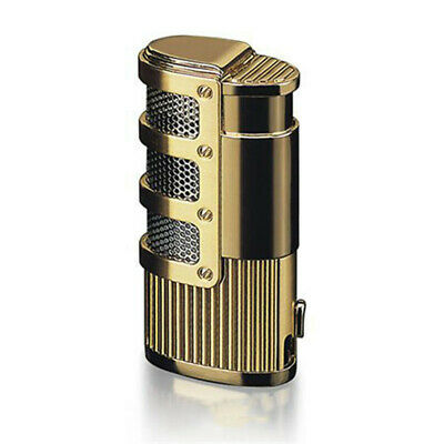 Windproof Refillable Triple Jet Flame Torch Butane Gas Cigar Lighter