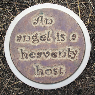 """Angel small stepping stone mold plaster concrete mould 8/"""" x 1.25/"""" thick"""