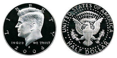 Silver 2004 S Gem Bu Proof Kennedy Half Dollar 50 Cent Uncirculated Coin Pf#3325