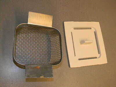 Ultrasonic Cleaner Cover (for 14cm x 13 cm Opening) &  Basket 14 cm x12 x 8 cm