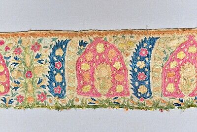Superb Antique 17Th 18Th C. Greek Islands Ottoman Embroidery Textile Fragment