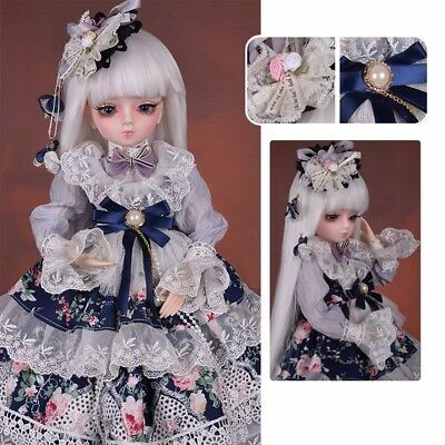 45cm 1/3 BJD Doll Handmade Girl Xmas Gift Free Clothes Shoes Wig Face Makeup Toy