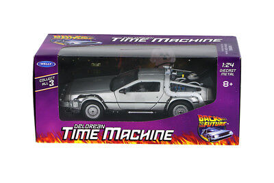 1:24 Back To The Future Delorean Time Machine Welly Diecast Car Nib