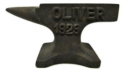 """Small Miniature Rustic Oliver Tractor 1929 4"""" Cast Iron Anvil Jeweler Hobby"""