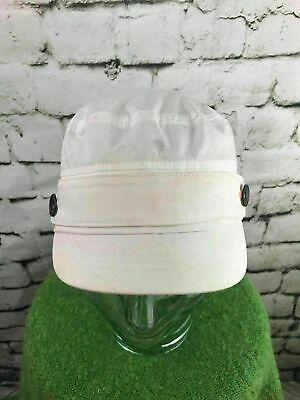 d65f6ea0 Nike Golf Unisex O/S Hat White Stretch Back Military Army Cap 100% Cotton