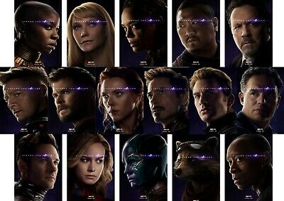 Avengers Endgame: Ironman, Thor, Hulk Ronin A5 A4 A3 Movie DVD character Posters