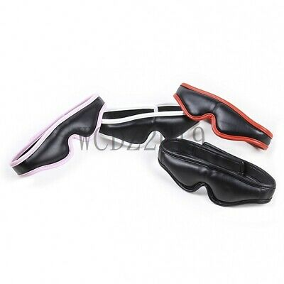 Sexy Eye Mask Masquerade Padded Leather restraint Blinder Blindfold Cover Fancy