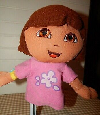 "Dora the Explorer Hand Puppet Soft Plush Stuffed Doll Toy 8"" GUC"