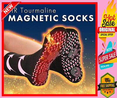 Get Tourmaline Self Heating Magnetic Therapy Sock Pain Relief Far Infrared Warm