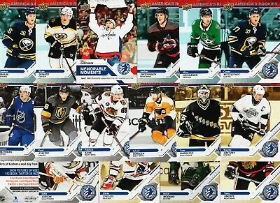 2019 Upper Deck National Hockey Card Day 16 Card Complete Set Dahlin Donato Rc