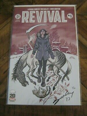 Revival #  1 August 2012 Dynamic Forces Autographed by Tim Seeley #'d 7 / 50  KK