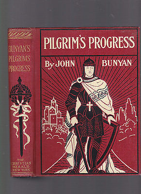 Pilgrim's Progress, by John Bunyan, an illustrated edition, ca 1915, hardcover