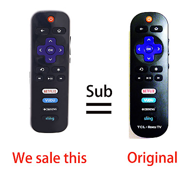RC280 Replace remote for TCL Roku tv3 with Netflix VUDU CBSNEWS Sling 32S4610R