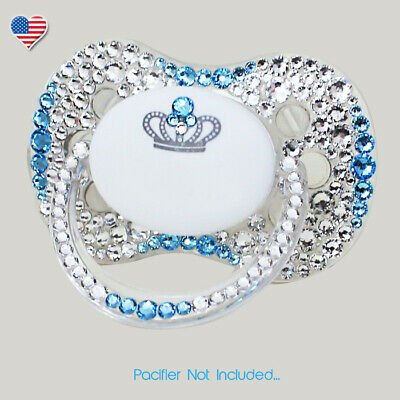 Aggressive Personalized Name Pacifier With Swarovski Crystals Baby Bling Pacifier In Pink