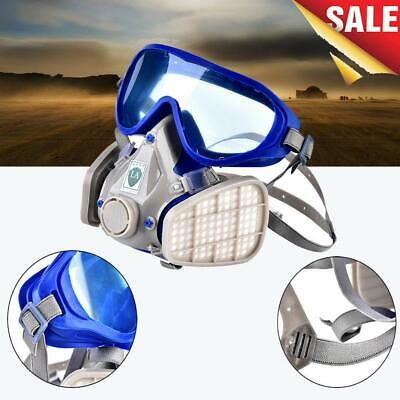 US DOUBLE FILTER Full Face Gas Mask Breath Respirator
