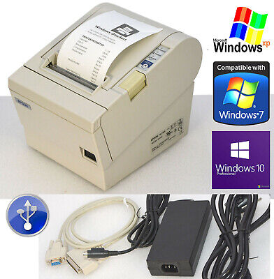 Bonprinter Receipt Printer epson TMT88III Seriel+USB Win 2000 XP 7 8 10 88-2