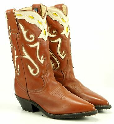 c8deea5569d Acme Women's Vintage Western Cowboy Boots Inlay US Made Boho Festival 5.5 6