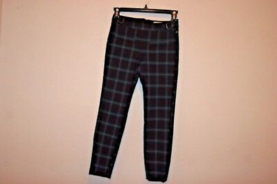 Zara Girls Casual Collection   Multi Plaids Pants Buckle Detail 9/10