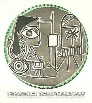 PABLO PICASSO - Plates with Text - LITHOGRAPH ART PRINT