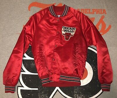dd5ec30eb0c5da Vintage Chalk Line Mens Size S Chicago Bulls Snap Satin Basketball NBA  Jacket