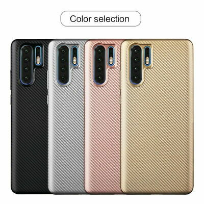 Carbon Fiber Soft Rubber Case Cover For Huawei P30 Pro P20 Lite Mate 20 Y9 2019