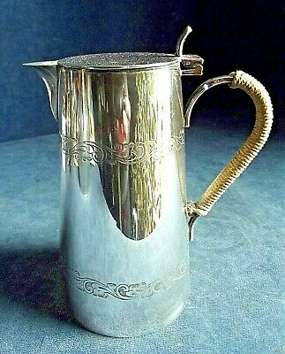 SUPERB ~ SILVER Plated ~ AESTHETIC Style ~ Water JUG ~ c1900 by Charles Green