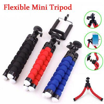 Mini Small Universal Flexible Tripod Stand Clip Holder Mount For Mobile Phones