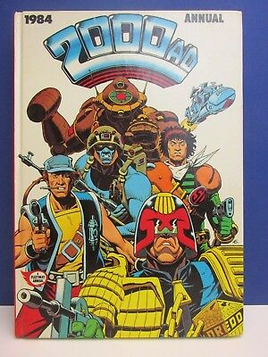old vintage JUDGE DREDD 2000AD ANNUAL STORY BOOK 1984 HARDBACK fleetway 53z