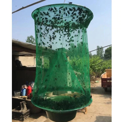 LOTS FLY TRAP Catcher Killer Cage Net Insect Bug Pest Yellow