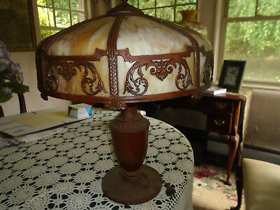Vintage Retro Tiffany Style Stained Glass Heavy Table Lamp