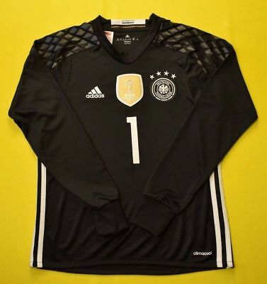 2949e66c45d Manuel Neuer 2014 world cup jersey kids youth shirt black ADIDAS goalkeeper  5+/5