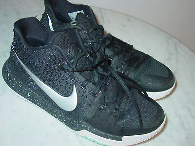 2016 Nike Kyrie 3 Black/Metallic Silver/White Shoes! Size 8.5 Sold As Is!
