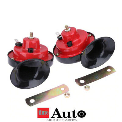 12V Loud Air Horn Set Dual Tone Car Bike Van Boat Siren Twin Two Horns Snail