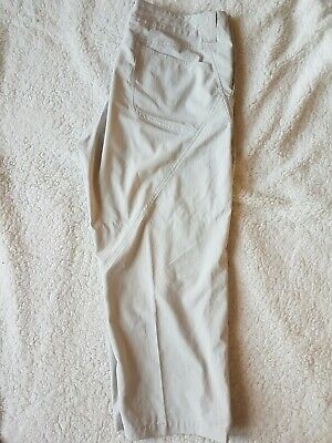 Patagonia Women's Capris Cropped Pants Size 14 Beige Nylon Hiking Active