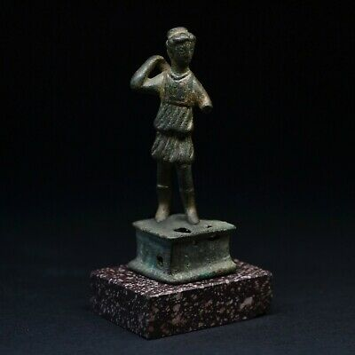 RARE ROMAN BRONZE STATUETTE OF DIANA, 2nd-3rd CENTURY AD. MUSEUM QUALITY. V.F+