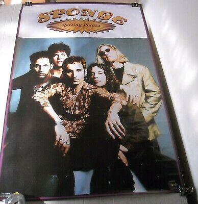 f659cab97d5 ROLLED 1995 Funky Posters   6148 SPONGE BAND PORTRAIT PINUP POSTER 22.5 x 34
