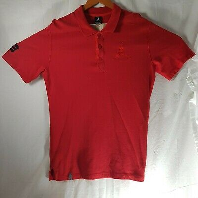 8836e84554b0 MICHAEL JORDAN POLO Shirt XLarge Solid Orange Blue Giant Jump Man XL ...