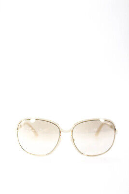 b5bc756ecf6 Tom Ford Womens Delphine Oversized Sunglasses White Metal Frames TF117 28G