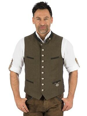 Os-Trachten Traditional Costume Waistcoat Kimi Brown
