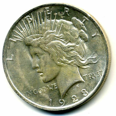 1923 P MS/BU Peace SILVER DOLLAR UNC/CH UNCIRCULATED MINT STATE US$1 COIN#3308