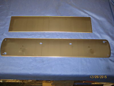Mg Mgb Stainless Steel Front & Rear Number Plate Backing 1974 - 1980 ***x1B