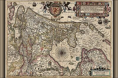 Poster, Many Sizes; Map Of Holland 1622