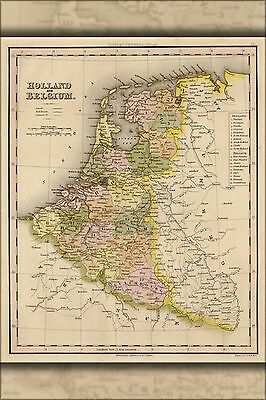Poster, Many Sizes; Map Of Holland And Belgium 1844