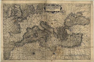 Poster, Many Sizes; Map Of Europe 1572