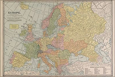 Poster, Many Sizes; Map Of Europe 1927