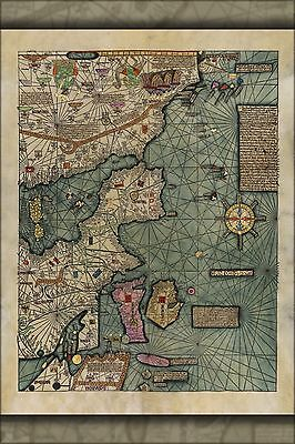 Poster, Many Sizes; Map Of Europe 1375 In Catalan