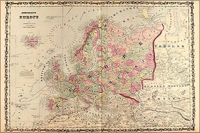 Poster, Many Sizes; Map Of Europe 1862